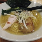 Funabashi : Chicken, scallop and salt soup ramen at Maruha Kiwami (三代目麺処まるは極)