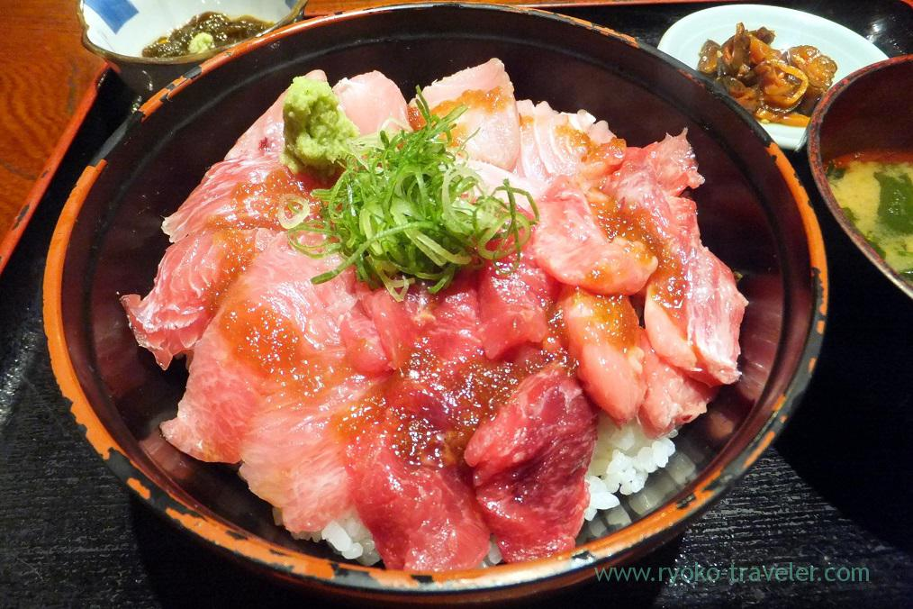 Four precious parts of tuna bowl , Maguro-ichi (Funabashi)