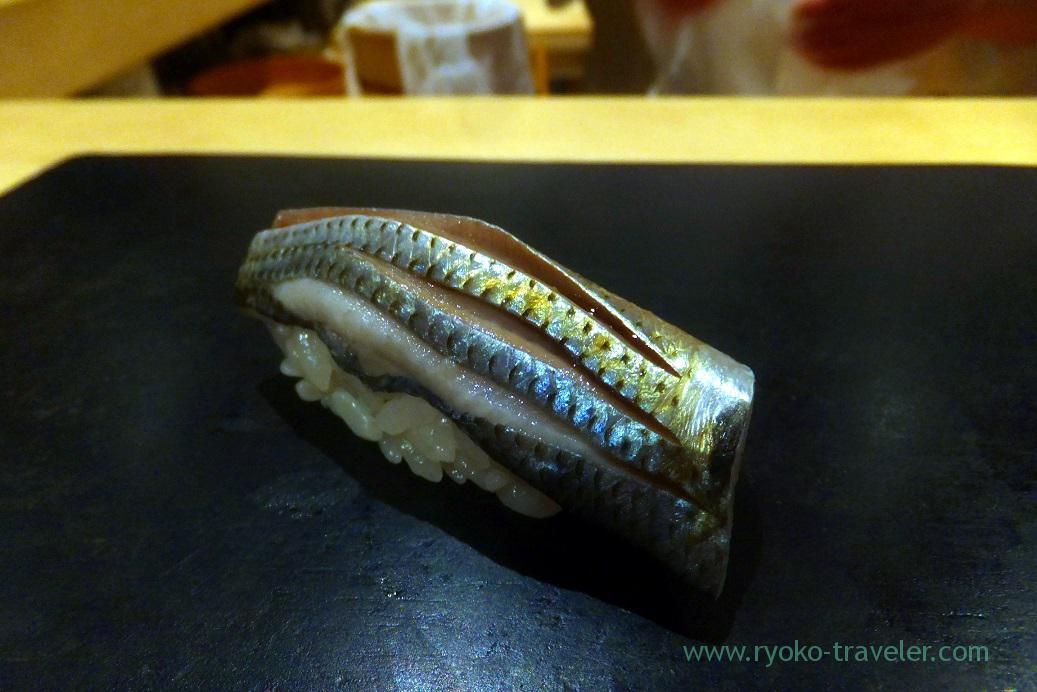 Gizzard shad, Sushi Hashimoto (Shintomicho)