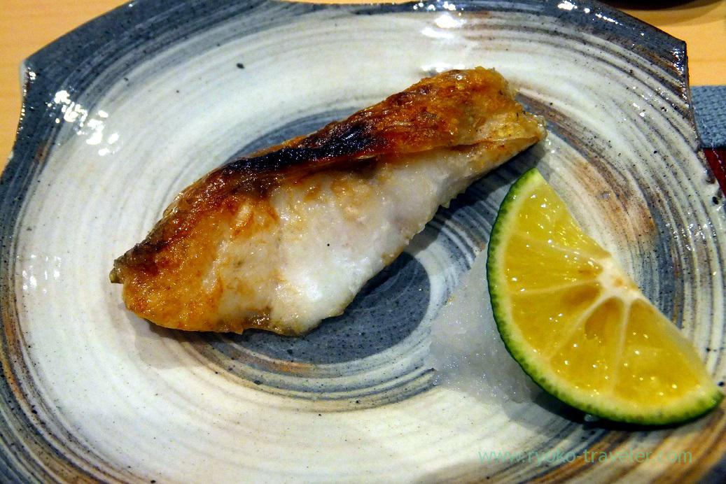 Grilled blackthroat seaperch, Sushi Hashimoto (Shintomicho)