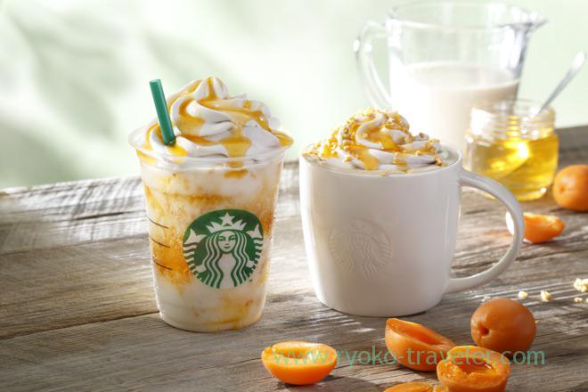 Limited apricot honey soy series of starbucks coffee