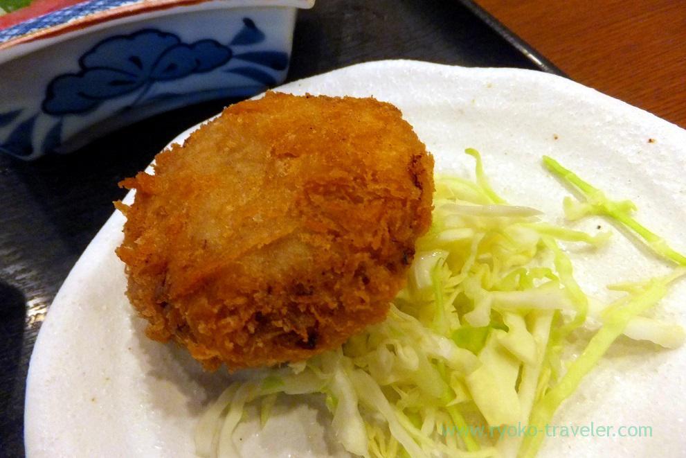 Minced meat croquette, Ikenoya (Kachidoki)