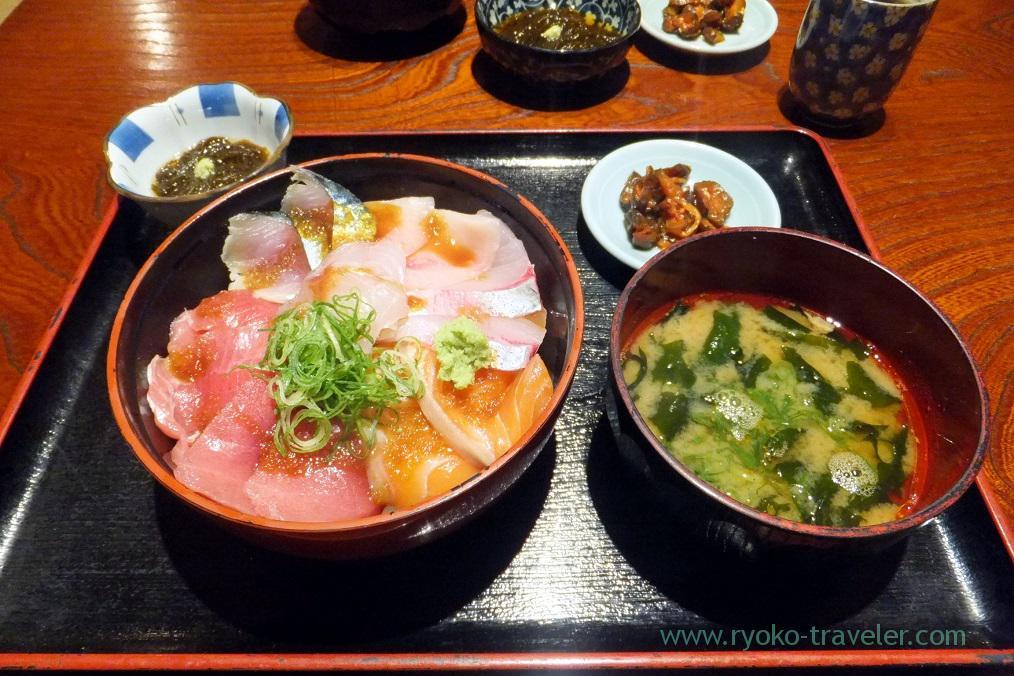 Sashimi bowl set, Maguro-ichi (Funabashi)