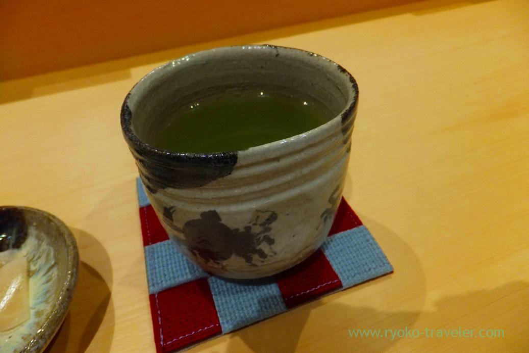Tea, Sushi Hashimoto (Shintomicho)