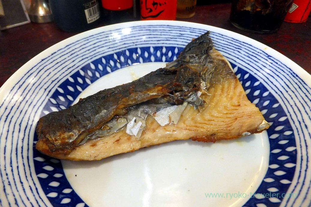Grilled Spanish mackerel with salt, Yonehana (Tsukiji Market)