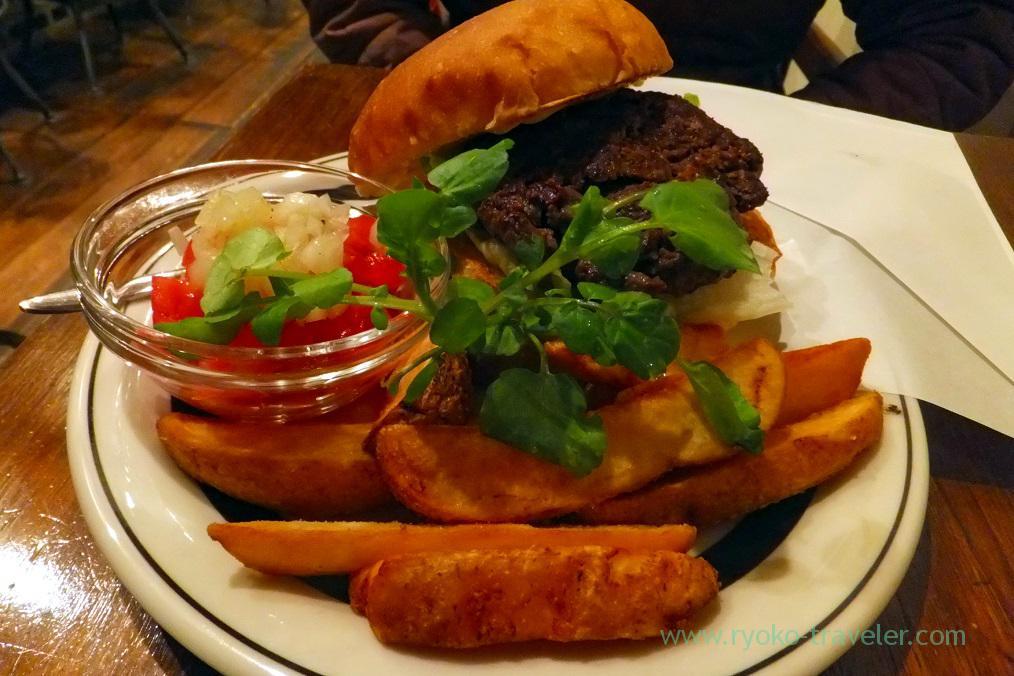 Hida beef hamburger, Center 4 hamburgers, Takayama (Hokuriku&Tokai 2016)