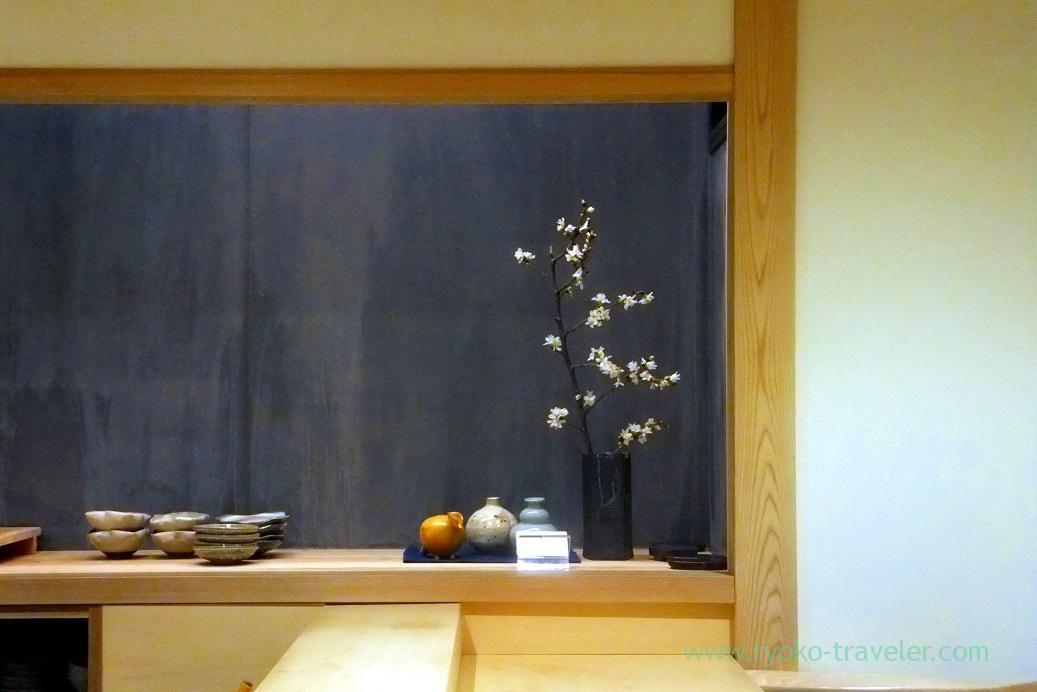 Interior, Sushi Hashimoto (Shintomicho)