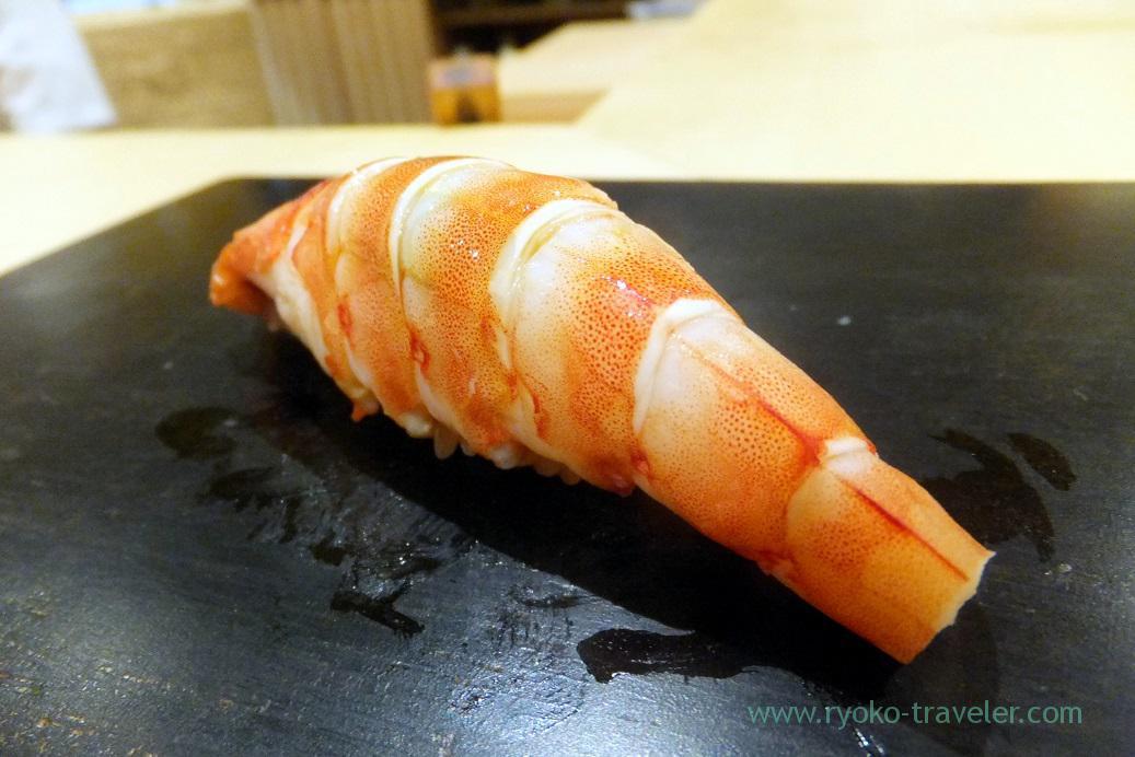 Kuruma prawn, Sushi Hashimoto (Shintomicho)