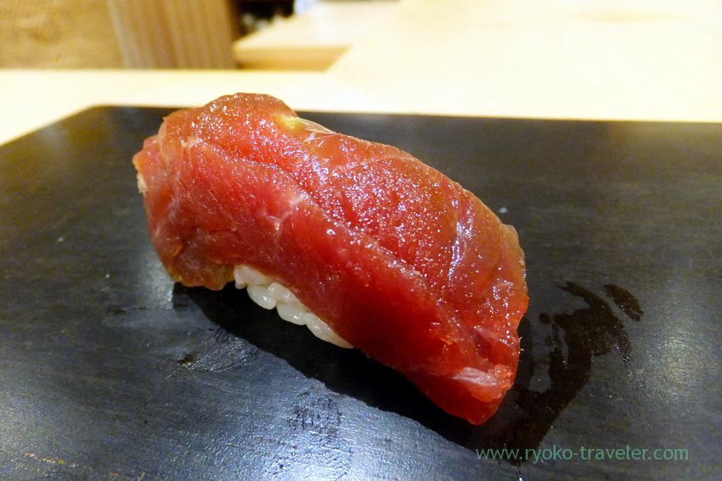 Marinated tuna, Sushi Hashimoto (Shintomicho)