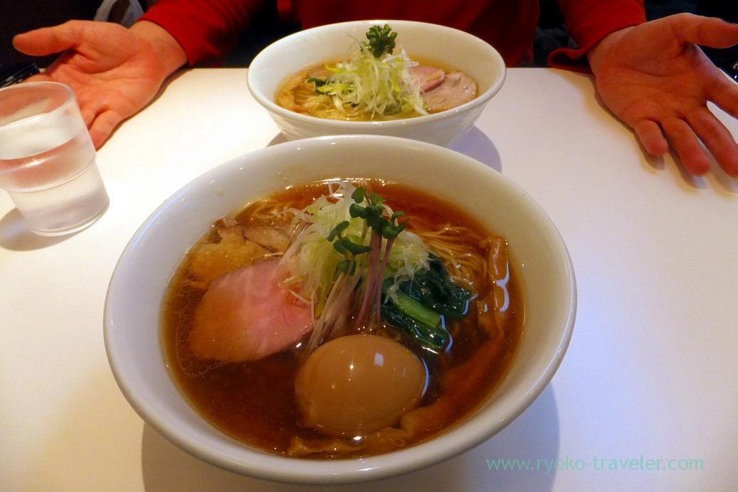 Our dinner, Torisoba Suzaku (Shimousa Nakayama)