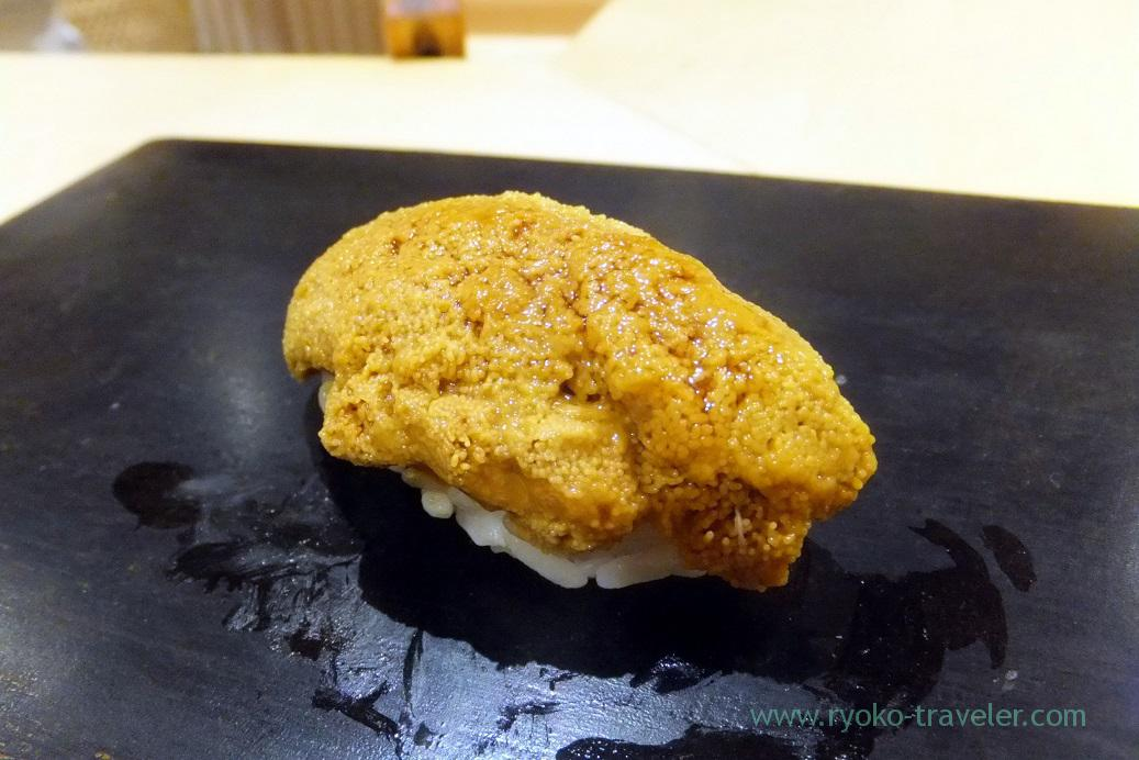 Sea urchin1, Sushi Hashimoto (Shintomicho)