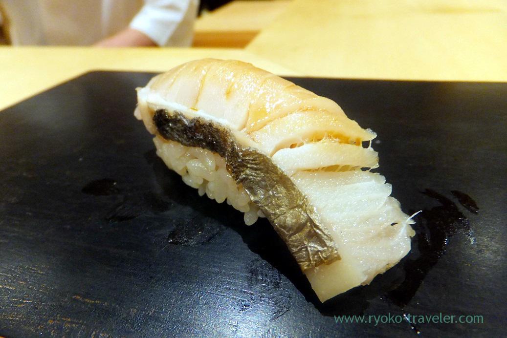 Spanish mackerel (sawara), Sushi Hashimoto (Shintomicho)