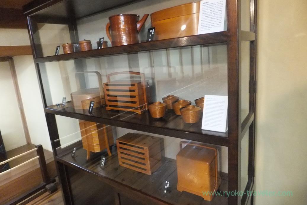 Wooden tablewares , Kusakabe folk museum, Takayama (Hokuriku&Tokai 2016)