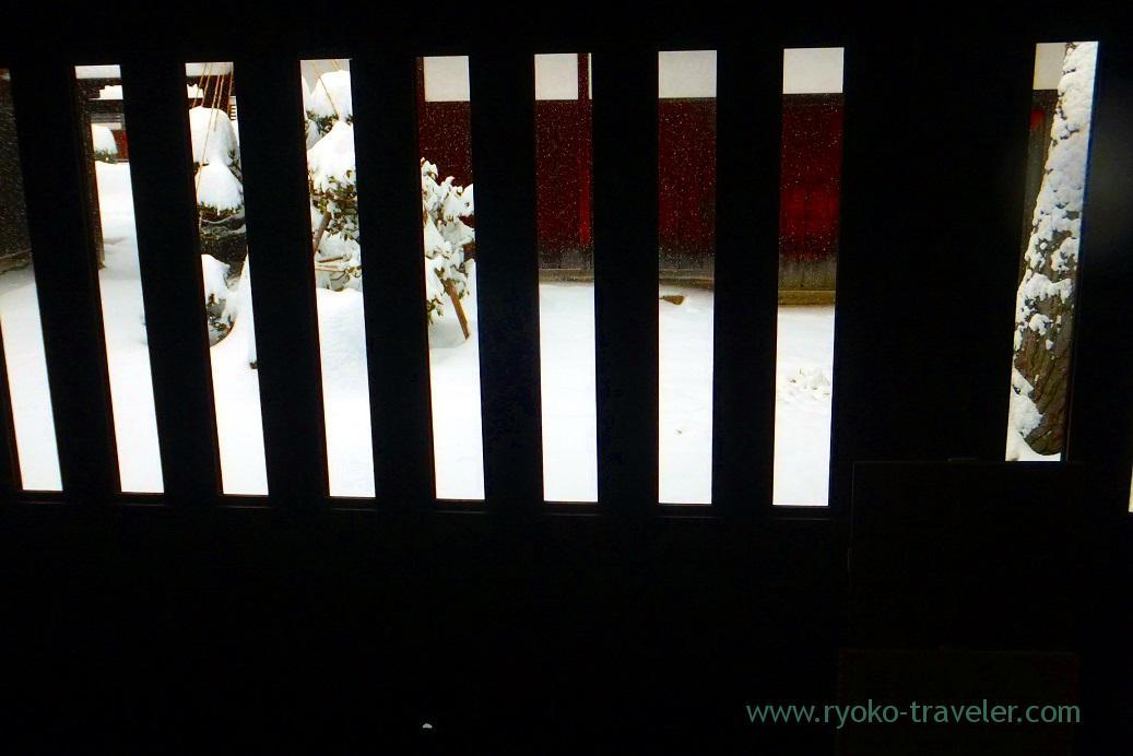 view from the door, Takayama Jinya, Takayama (Hokuriku&Tokai 2016)