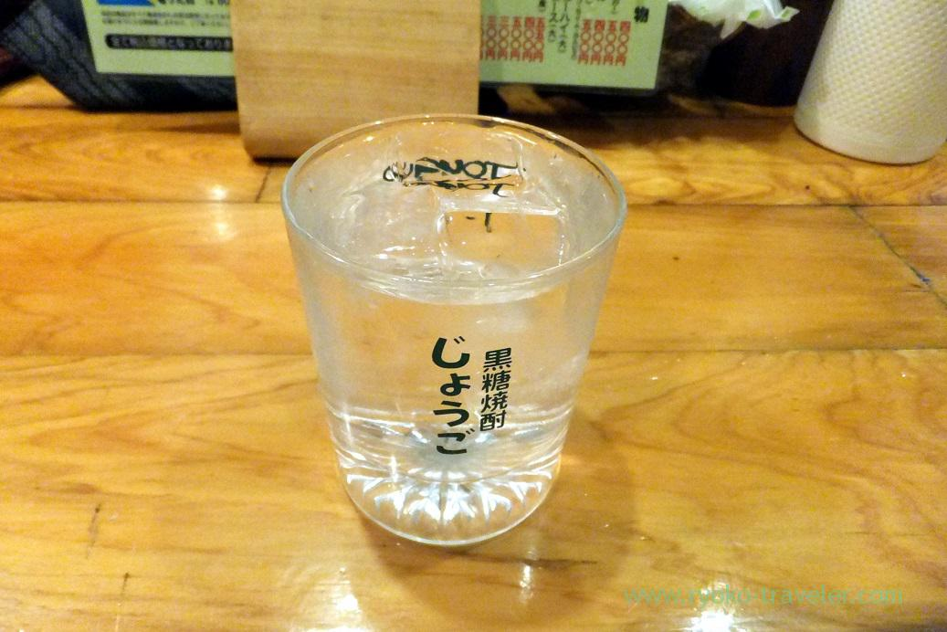 Brown sugar shochu, Yakitoriya Tecchan Naze branch (Amami 2015)