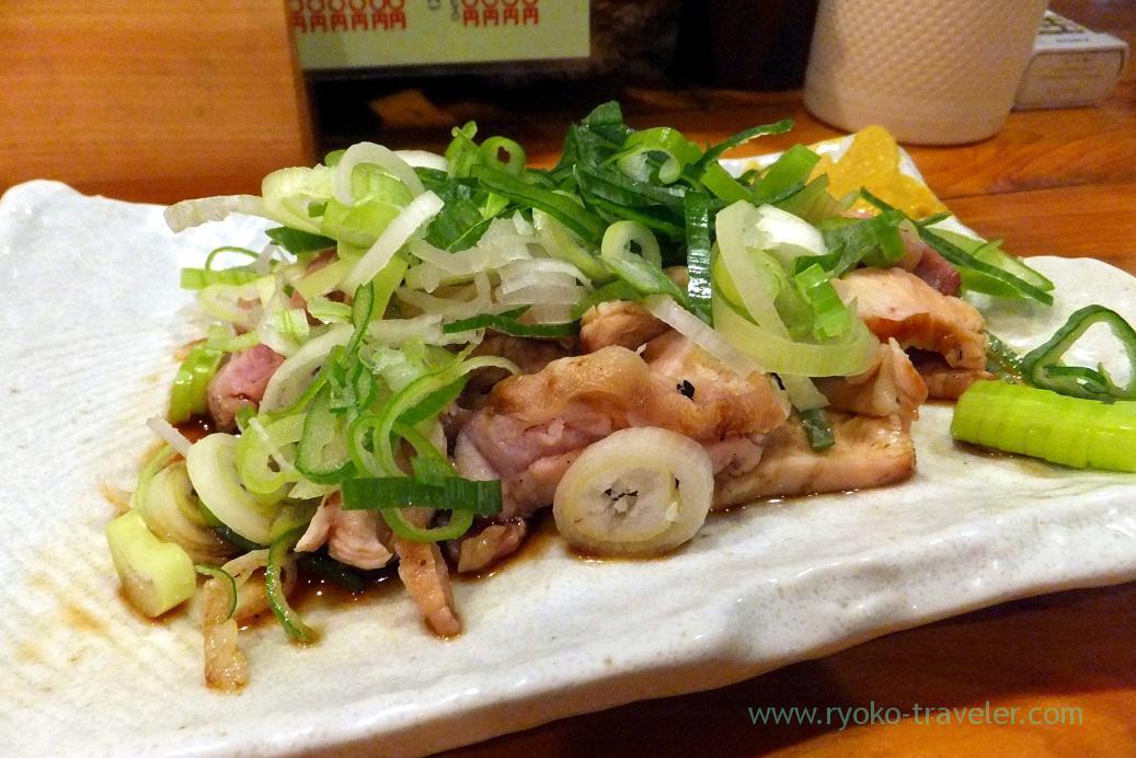 Chicken sashimi, Yakitoriya Tecchan Naze branch (Amami 2015)