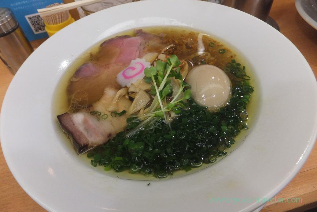Iberico shio ramen with boiled egg , Menya Shono Tobu hyakkaten Funabashi branch (Funabashi)