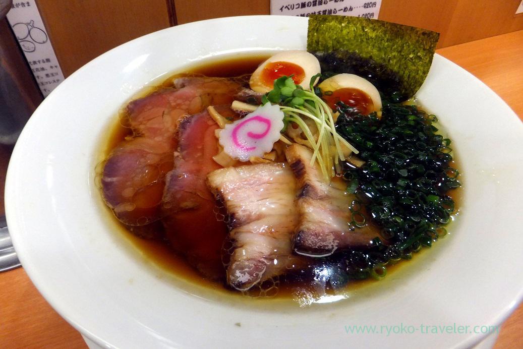 Iberico shoyu special ramen , Menya Shono Tobu hyakkaten Funabashi branch (Funabashi)