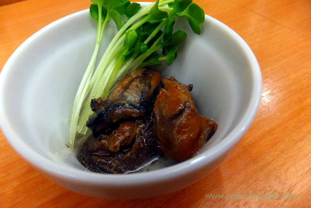 Marinated oystrs with oil, Menya Shono Tobu hyakkaten Funabashi branch (Funabashi)