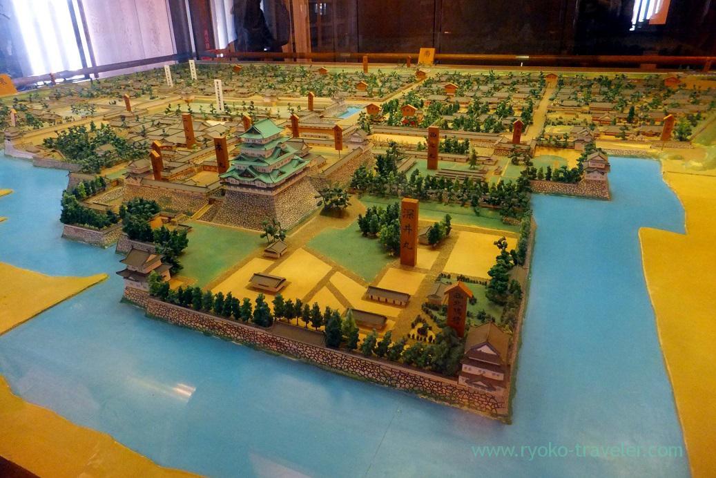 Model of ancient times, Nagoya castle, Nagoya (Hokuriku&Tokai 2016)