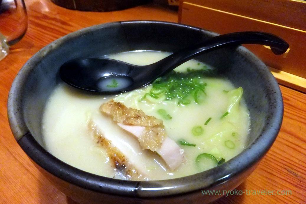 Thick seafood and tonkotsu ramen, Torikizoku Shin-Tsudanuma branch (Tsudanuma)