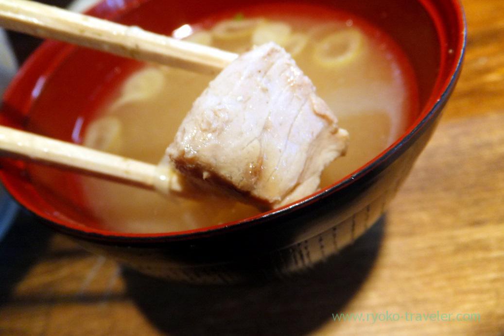 Bony part of tuna miso soup, Hajime Sengyo-ten (Tsukiji)