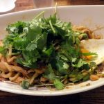 Yushima : Dandan noodles and coriander at Aun (四川担担麺 阿吽)