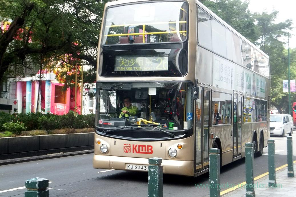 Double deck bus,Tsim Sha Tsui (Hongkong 201602)