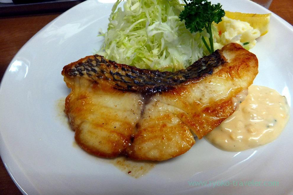 Fried Lethrinus haematopterus, Odayasu (Tsukiji Market),
