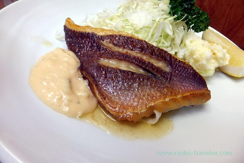 Fried sea-perch snapper with butter, Odayasu (tsukiji market)