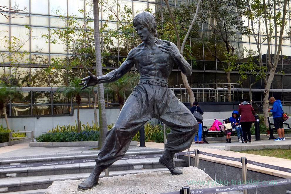 Statue of Bruce Lee, Garden of Stars,East Tsim Sha Tsui (Hongkong 201602)