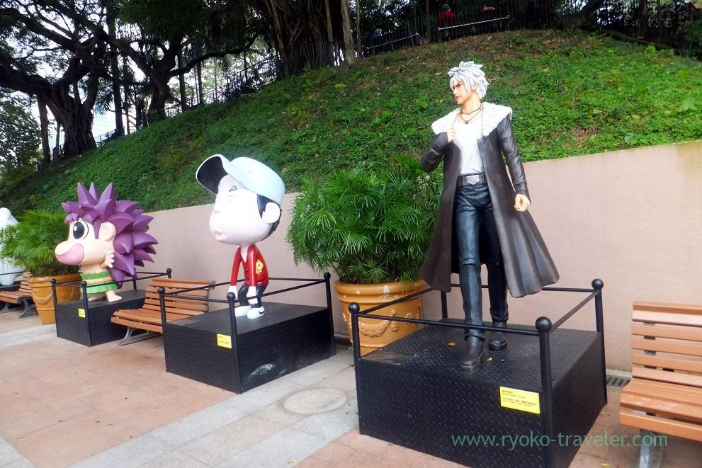 Statue of Hong Kong avenue of comic stars 1, Kowloon Park ,Tim Sha Tsui (Hongkong 201602)