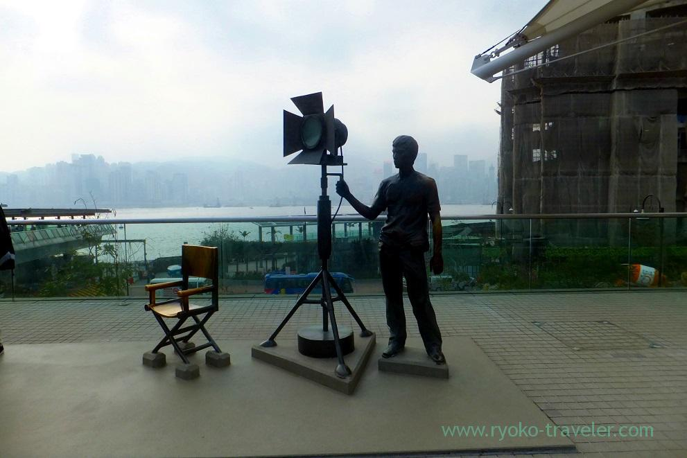 Taking movie, Garden of Stars,East Tsim Sha Tsui (Hongkong 201602)