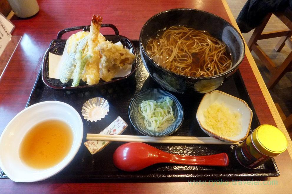 Tempura and Soba including shrimp tempura, Amaneya (Funabashi)