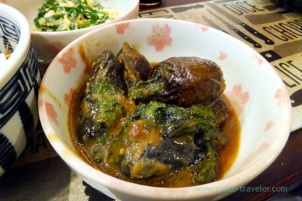 Boiled eggplant with miso, Yonehana (Tsukiji market)
