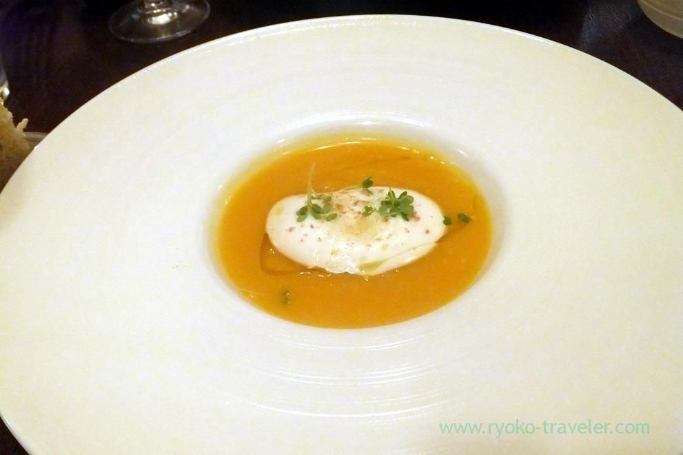 Butter nuts zuppa with kumin, parmigiano, il tram (Kiyosumi-Shirakawa)