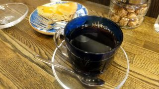 Kinshicho : Coffee in Edo kiriko glass cup at Sumida coffee (すみだ珈琲)