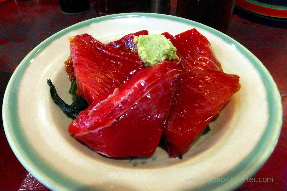 Marinated tuna with soy sauce, Yonehana (Tsukiji Market)