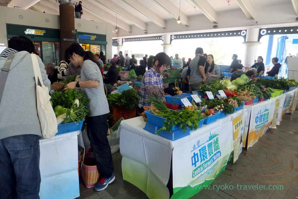 Market was held, Star ferry Central pier, Central (Hongkong 201602)