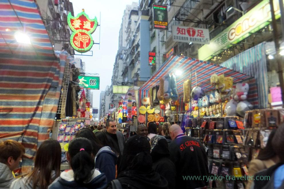 People gathering 1, Ladies market ,Mong kok (Hongkong 201602)