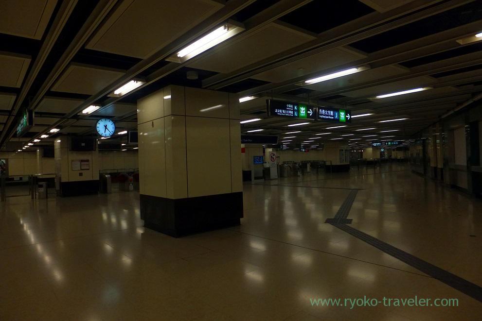 Quiet station, Tsim Sha Tsui station ,Tsim sha tsui (Hongkong 201602)