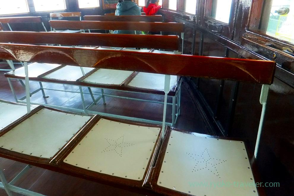 Seats of star ferry, Star ferry Central pier, Central (Hongkong 201602)