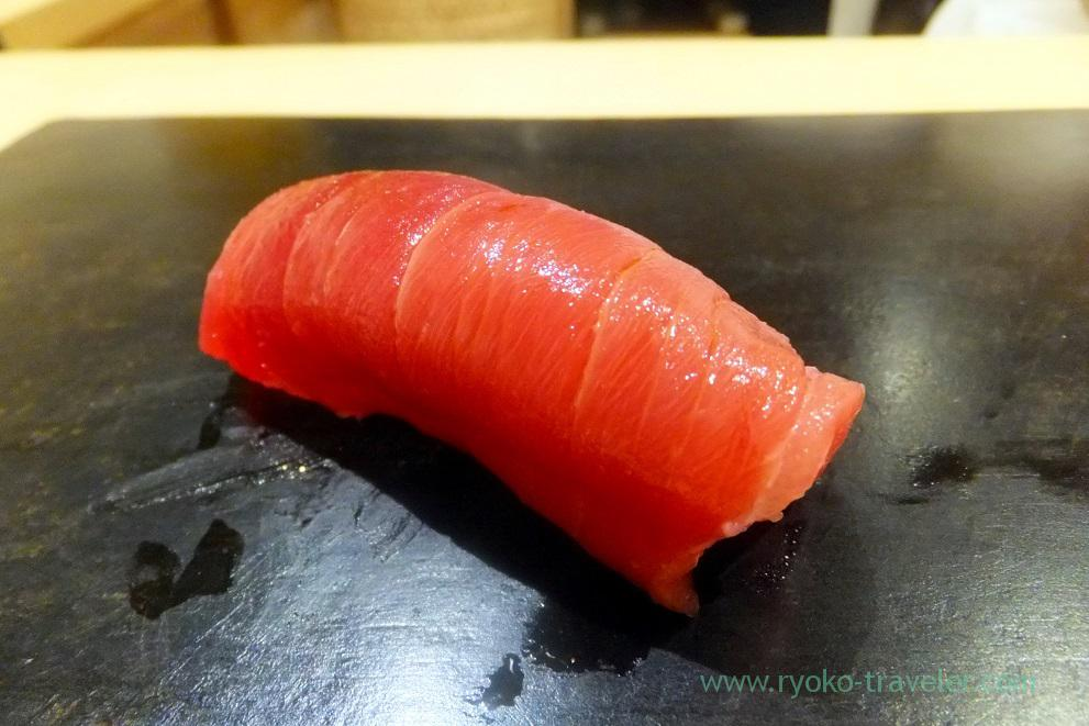 Toro part of tuna, Sushi Hashimoto (Shintomicho)