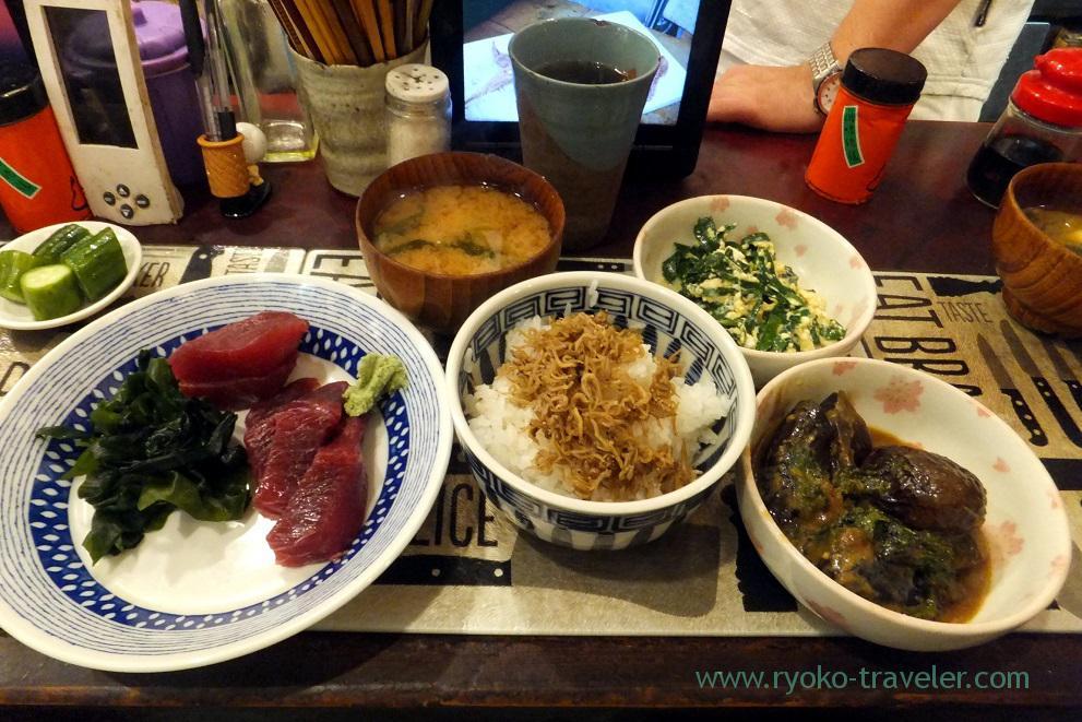 whole view of chef's choice, Yonehana (Tsukiji market)