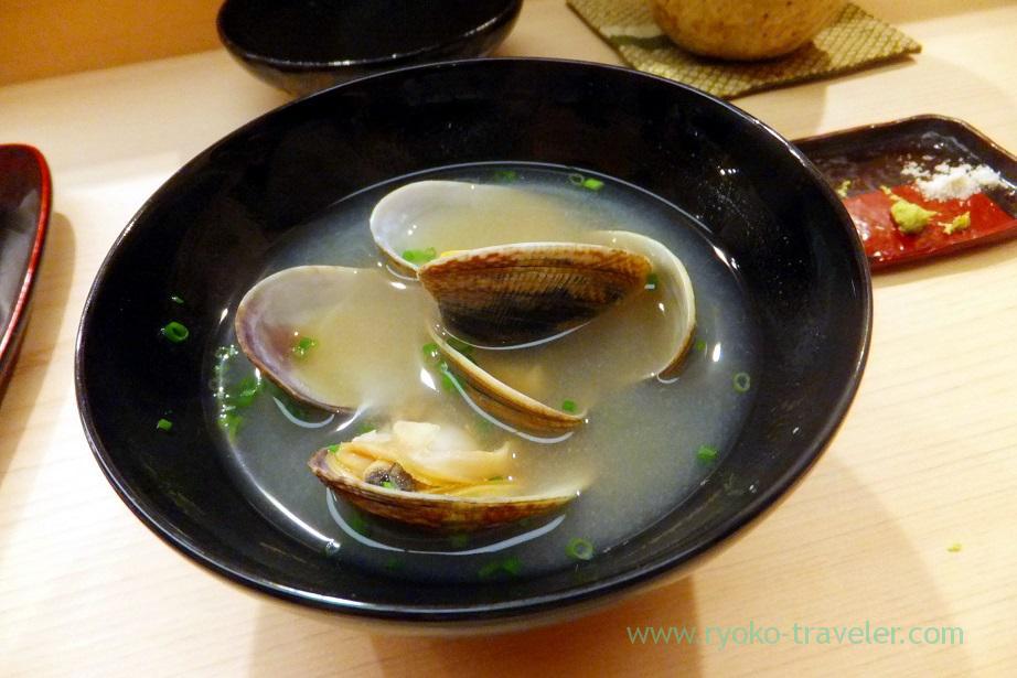Asari soup, Nihonbashi Kakigaracho Sugita (Suitengu-mae)