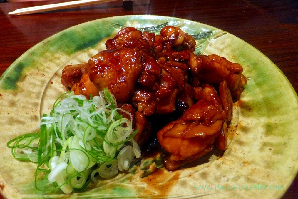 Boiled chicken with spicy and sweet sauce, Sasuga Rin (Ginza)