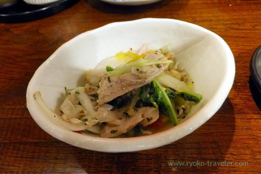 Marinated sardines and vegetables, Funakko (Higashi-Funabashi)