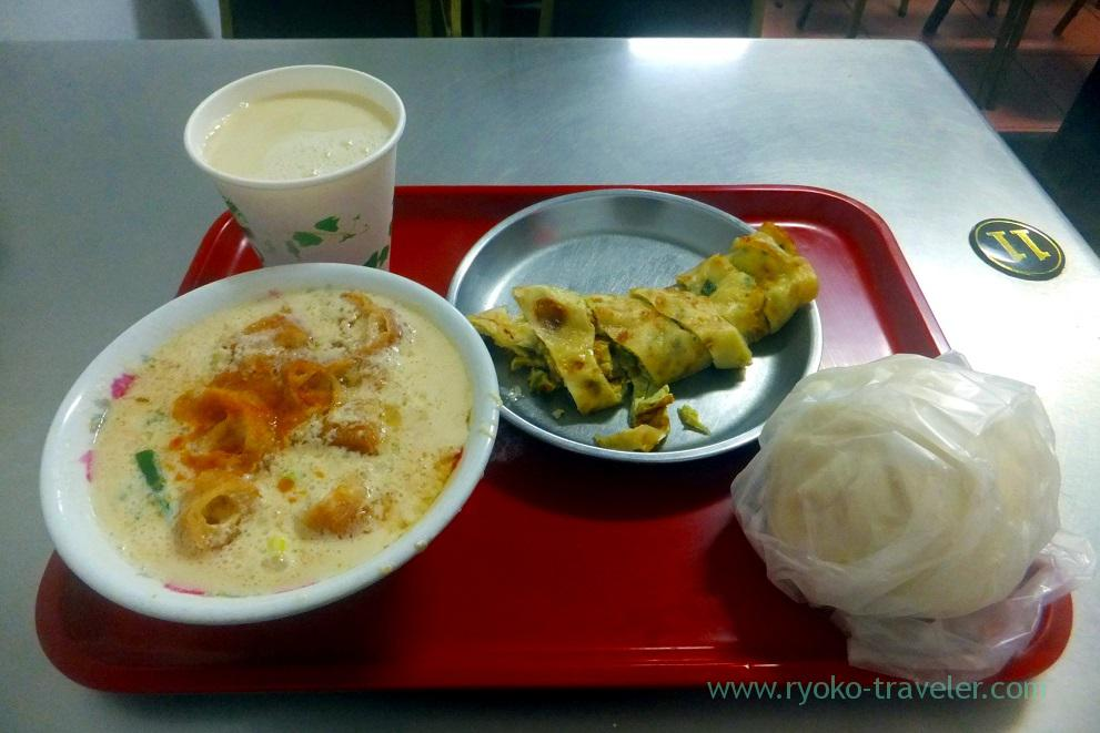 My breakfast, Four seas soymilk king, Zhongshan (Taipei 201605)