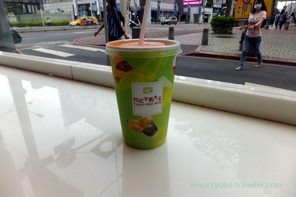 Papaya milk, Taipei milk king, Zhongshan (Taipei 201605)