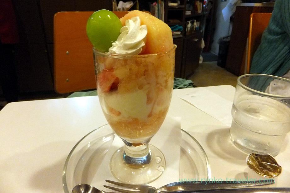 Peach parfait, Fukunaga Fruits Parlor (Yotsuya Sanchome)